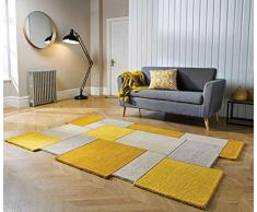 Rugs Direct Teppich, 90 x 150 cm, Gelb