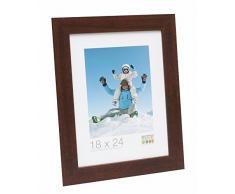 Deknudt Frames S226H3 Bilderrahmen 15x20 Basic, breite braune Holzleiste Holz Fotokader