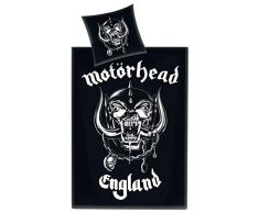 Motörhead BLMH1 Bettwäsche, Baumwolle, Schwarz, 135 x 200 x 1 cm