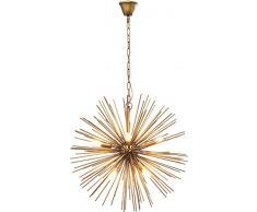 Kare Hängeleuchte, Gestell, Baldachin: Metall Stahl lackiert, Gold, 72 x 72 x 72 cm