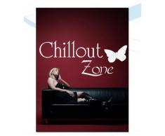 INDIGOS WG30044-70 Wandtattoo w044 Chillout Zone Chillen Entspannung 120 x 49, schwarz