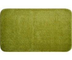 Linea Due Badteppich 100% Polyacryl, ultra soft, rutschfest, ÖKO-TEX-zertifiziert, 5 Jahre Garantie, FANTASTIC, Badematte 70x120 cm, grün