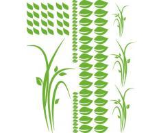 Graz Design 770088_70x57_063 Wandtattoo Set Wohnzimmer Pflanzen Blätter Gräser Kinderzimmer