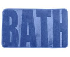 Wenko 22255100 Badteppich Memory Foam Bath, Fjord blau Duschmatte, Polyester, 80 x 50 x 0,1 cm, taupe