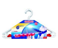 Leifheit Zubehör-Set Pegasus, zwei Kleinteilehalter für Leifheit Standtrockner + 5 windfeste Kleiderbügel zum einrasten am Wäscheständer, Kleinteilhalter ideal für Socken und Wäsche, mehr Trockenplatz