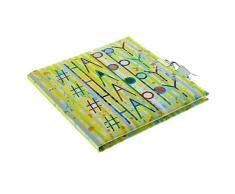 Goldbuch Tagebuch, # (Hastag) Happy, 96 weiße Seiten, 16,5 x 16,5 cm, Schloss mit 2 Schlüsseln, Kunstdruck, Grün, 44303