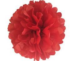 Matissa Pompons aus Seidenpapier, 20cm, 10Stück, für Hochzeit, Party-Dekoration mit, Rot
