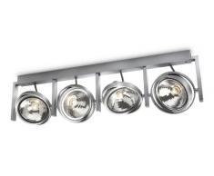 PHILIPS myLiving, Aufbauspot mit 60W, inklusive Leuchtmittel, 4-flammig 530644816