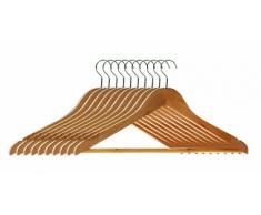 Premier Housewares Kleiderbügel aus Holz 10 Stück