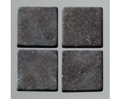 MosaixPur 20Â x 20Â x 4Â mm 200Â g 45-TLG. Natur Stein Mosaik Fliesen, schwarz