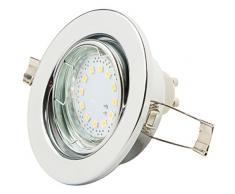 Levivo Deckenstrahler 1-flammig, Einbaustrahler LED, warmweiß, mit 12 SMD LEDs, Deckenstrahler anschließbar ohne Trafo - Helligkeit 125 lm, energiesparender LED-Strahler für Deckeneinbau