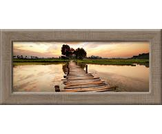 Pro-Art an397l17 Wandbild New Classic Wood Colourful VIew, 94 x 44 cm