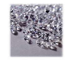 Relaxdays Dekodiamanten 10.000er Set, Tischdeko Hochzeit, Dekosteine Diamanten, Kunststoff, 6 x 4 mm, transparent