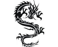INDIGOS WG10007-70 Wandtattoo W007 Drachen China Japan Monster 80 x 52, schwarz