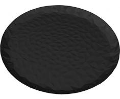 Alessi CR03/40 B Joy n. 3 Tablett, rund - Stahl, epoxidharzlackiert, Super Black. Ø 40 cm