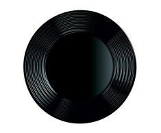 Arcoroc ARC L7611 Harena Teller flach, 25 cm, Opalglas, schwarz