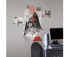 RoomMates RM-Star Wars VII Erste Ordnung Wandtattoo, PVC, bunt, 49 x 13 x 2.5 cm