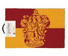 Harry Potter Fußmatte Gryffindor rot/gelb, aus Kokosfaser, Unterseite aus PVC.