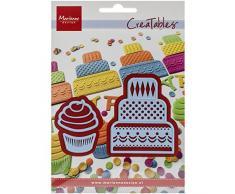 Marianne Design LR0341 Creatables Minikuchen und Cupcake - Stanzschablone und Prägeschablone für die Kartengestaltung und Scrapbooking, Metal, blau, 5 x 6 x 0,4 cm