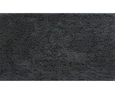 Grund organisch Garn Badteppich, 100% Bio-Baumwolle Garn, ultra soft, rutschfest, ÖKO-TEX-zertifiziert, 5 Jahre Garantie, CALO, Badematte 70x120 cm, anthrazit