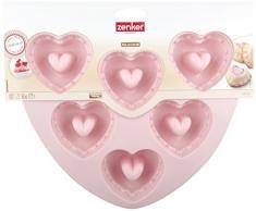 Zenker Backform, Silikon, pink, 22.5 x 23 x 3.5 cm