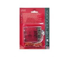 Konstsmide 1461-180 Micro LED Lichterkette / für Innen / VDE geprüft / Batteriebetrieben: 4xAA 1.5V (exkl.) / 6h Timer /40 warm weiße Dioden / messingfarbener Draht