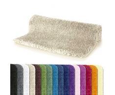 Spirella Badteppich Badematte Duschvorleger Mikrofaser Hochflor | flauschig | rutschhemmend | geeignet für Fußbodenheizung | 80x150 cm | Beige Sand