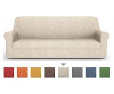 PETTI Artigiani Italiani - Sofaüberwurf, Sofabezug, Sofaüberwurf Creme, Sofabezug 2 Sitzer, Jacquard Stoff, 100% Made In Italy