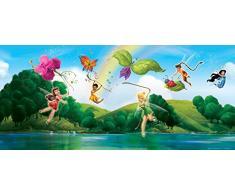 AG Design FTDh 0608 Fairies Disney Feen, Papier Fototapete Kinderzimmer - 202x90 cm - 1 Teil, Papier, multicolor, 0,1 x 202 x 90 cm
