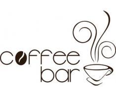 Graz Design 620148_40_080 Wandtattoo Wandaufkleber für Küche Kaffee Cafe Coffee Coffeebar mit Kaffeetasse Wanddeko 62x40cm Braun