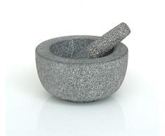 VICTOR Stößel und Mörser, Granit, Grau, 20 cm