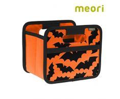 meori Faltbox Mini Mandarine Orange/Halloween 16,5x12,5x14cm stabil abwischbar Aufbewahrungsbox Organizer Geschenkbox mit Griffen Dekoration Kleinteile Sortieren Regal