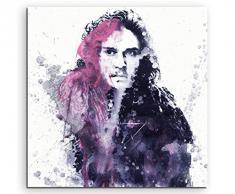 Paul Sinus Art Game_of_Thrones_Jon_Snow_60x60-SA Wandbild Leinwand, 90 x 50 x 3 cm, Mehrfarbig