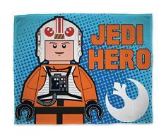 Sahinler 22710007Â Lego Star Wars Fleecedecke Polyester, 100Â x 150Â cm, Blau