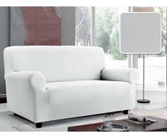 Italian Bed Linen Sofabezug Bielastisch Ausschnitt Stoff mit glatter Struktur, Polyester 130/170 x 90 cm Bianco