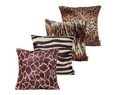 Queenie – 4 PCS Überwurf, Webpelz Kissenbezüge Kissenbezug für Sofa Kissen Fall erhältlich in 5 Farben und 6 verschiedenen Größen, baumwolle, Bundle Set C of 4, 24 x 24 inch (60 x 60 cm)