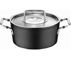 Fissler luno / Aluminium-Kochtopf (Ø 20cm, 2,8 L) inkl. Edelstahl-Deckel, Antihaftversiegelt, Kochtöpfe-beschichtet, für alle Herdarten - auch Induktion