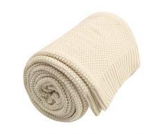PiccoCasa Kuscheldecke Wohndecken 100% Baumwolle Sofadecke Wolldecke pflegeleicht gesund super warme Sofaüberwurf oder Wohnzimmer Decke Beige 150x200cm