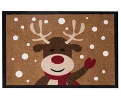 Hanse Home Fußmatte Schmutzfangmatte Reindeer Braun, 40x60 cm