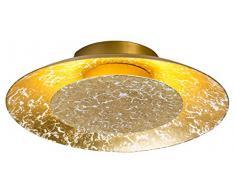 Nino Leuchten Deckenleuchte, Glas, Gold, 15 x 25 x 5 cm