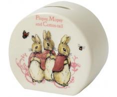 Beatrix Potter F M C Tail Money Bank, Keramik, Bunt, 7 x 1.1 x 1 cm