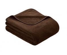 Kuscheldecke s.Oliver 3612 / premium Feecedecke dunkelbraun / unifarbene Markendecke 150x200cm / aus hochwerigem Polyester / eingefasst mit einem sehr edelen Band