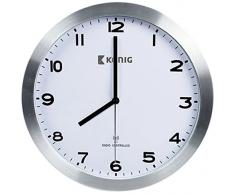 König KN-CL20N Uhr, Glas, weiß/silber, 30 x 4,5cm