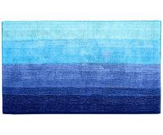 Dyckhoff 0928529400 Colori- Qualität 1500 g/m², 1 Badteppich 70 x 120 cm, 100 % Bio-Baumwolle, blau