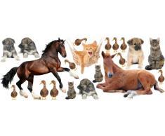 Graz Design 771071_150x57 Wandsticker Set Kinderzimmer Tiere Bauernhof Pferde Hunde Katzen Enten
