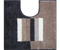 Grund Linea Due Badteppich 100% Polyacryl, Ultra Soft, Rutschfest, CAPRICIO, WC-Vorlage m.A. 55x60 cm, Taupe