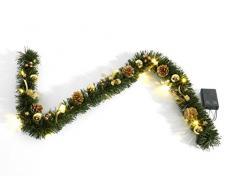 HEITMANN DECO künstliche Tannengirlande, Festgirlande, Gold dekoriert, mit LED Beleuchtung, 120 cm, Plastik, 46.3 x 14.3 x 6.5 cm