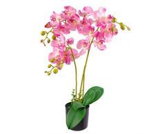 Leaf Kunstpflanze Orchideenblatt, realistisch, 60 cm, Rosa