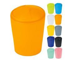 Spirella Kosmetikeimer Move Abfalleimer Schwingdeckeleimer | Kunststoff | 5 Liter |Orange