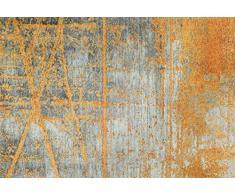 Wash + Dry Rustic Fußmatte, Acryl, orange, 140 x 200 x 0.9 cm